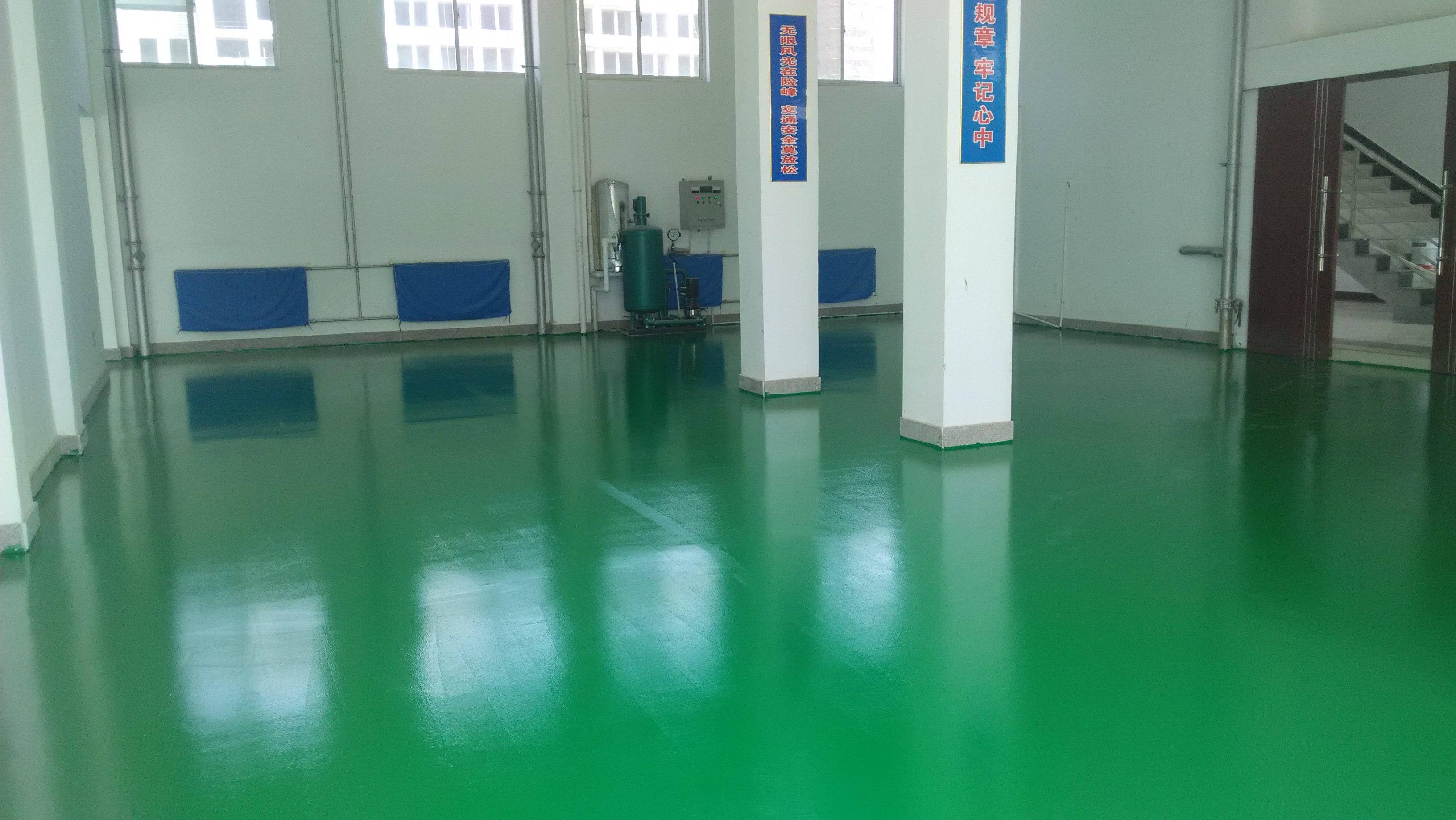 肥城汶阳车间地面刷绿色环氧地坪漆